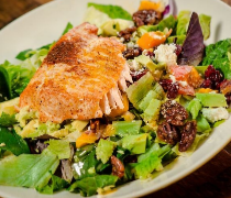 Maderas Steakhouse Salmon and Maderas Salad